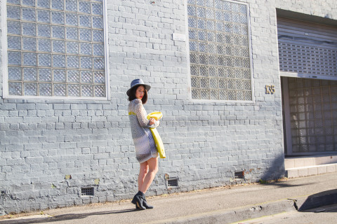 k-is-for-kani-life-with-bird-yellow-jacket-berenika-knit-dress-ace-of-something-fedora-4